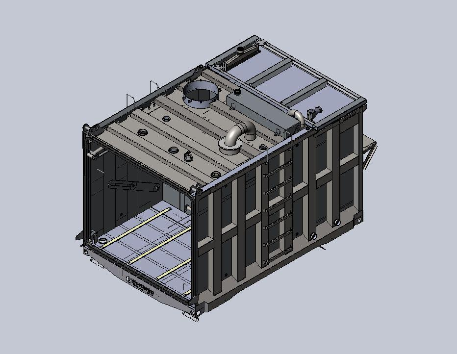 3D CAD Model for Automated Water Blast Equipment