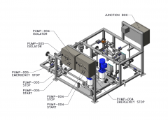 3D Solid Model of Processing Plant