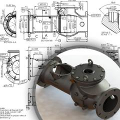 Detailed Engineering and 3D CAD Modeling for Casting Components