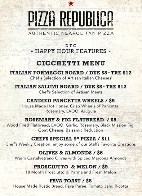 pizza republica happy hour menu