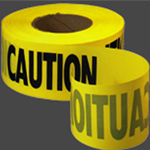 Empire Level Manufacturing Co. Empire 1000' x 3'' Caution Barricade Tape