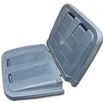 American Marketing Sales Co. Removable Split Lid for Toter 1/2 cu. yd. Trash Truck