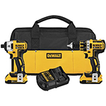 DeWalt Power Tools 20V MAX XR Lithium Ion Brushless Compact Drill / Driver & Impact Driver Combo Kit