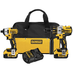 DeWalt Power Tools 20V MAX* XR Lithium Ion Brushless Premium Hammerdrill & Impact Driver Combo Kit