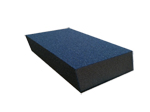 "Blue Sponges 3"" x 5"" x 1"" Dual Angle Fine/Medium Sponge"