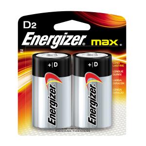 Energizer® MAX® D Batteries (2)