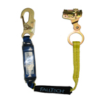 Fall Tech 3 ft Lanyard w/ 1 Snap Hook & Rope Grab