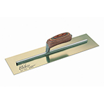 "Kraft Tool Company 14""x5"" Elite Series Five Star™ Golden Stainless Steel Cement Finish Trowel w/Wood Handle"