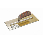 "Kraft Tool Company 12""x5"" Elite Series Five Star™ Golden Stainless Steel Trowel w/Wood Handle"