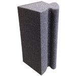 "Norton Company 3-3/4"" x 7""x 4-1/2"" Medium Corner Sanding Sponge"