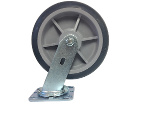 "Nu-Wave Manufacturing  8"" Swivel Hi-Tech Silver Drywall Cart Caster"
