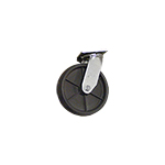 "Perry Manufacturing, Inc. 8"" Swivel Poly Silver Line Caster"