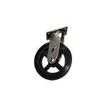 "Perry Manufacturing, Inc. 8"" Swivel Rubber to Metal Silver Line Caster"