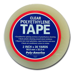 "Poly-America, LP Clear Poly Duct Tape 2"" X 36 yd."