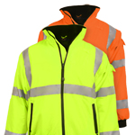 Reflective Apparel Hi Vis 3-Season Safety Jacket ANSI III Water Resistant L