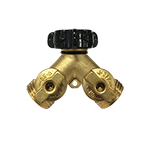 Robert Bosch Tool Corporation Brass Dual Connection Control Shut Off Valve