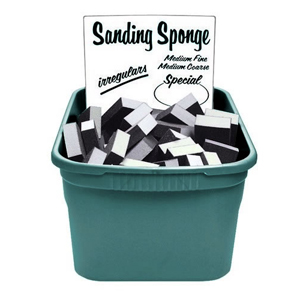 Allway Tub Of Irregular Sanding  Sponges [100]