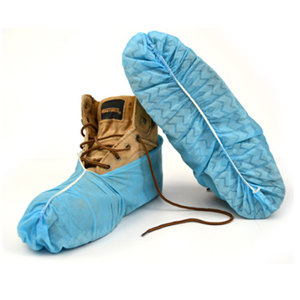 Blue Shoe Covers-Skid Resistant [10 Pairs]