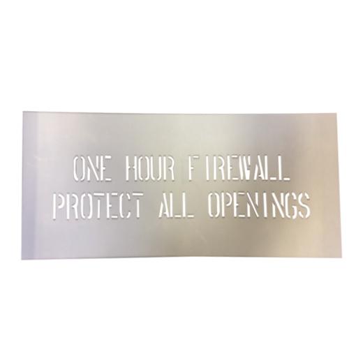 1 Hr Fire Wall Drywall : One hour firewall stencil at tsw
