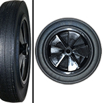 Toter, Inc. Rear Replacement Wheel - 1 cu. yd. Trash Truck
