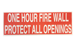 Ingraphics One Hour Fire Wall Warning Label [50]