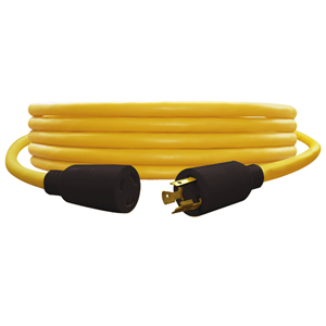 100' Extension Cord 12/3 Yellow Twist-To-Lock