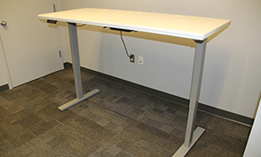 $799 for White Height Adjustable Electric Desk Delivered, Assembled and Installation