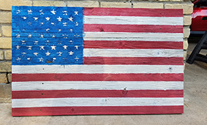 $399 for Wooden American Flag