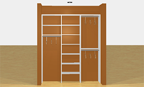 $405 for a 6 Feet wide, Reach-In Closet System