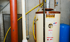 $1,049 for a 40-Gallon Electric or Gas Water Heater Installation