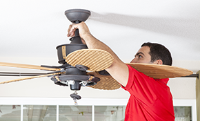 $129 Ceiling Fan Installation