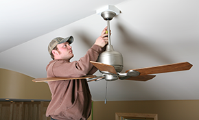 $199 Ceiling Fan Installation - Labor Only, Reserve Now for $29.85