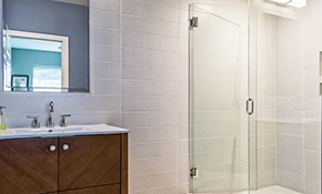 $1,799.00 for Frameless Glass Shower Door Package- Door & Inline