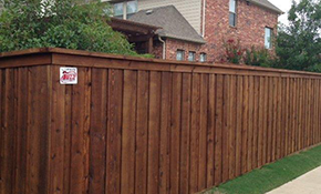 $2,064 for a New Privacy Fence Installation with Walk-thru Gate