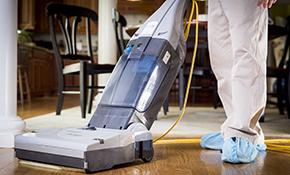 $130 Laminate or Hardwood Floor Cleaning