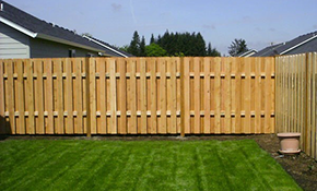 $720 for a New Shadowbox Privacy Fence Installation