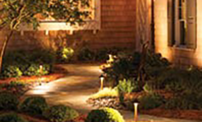 $2,025 Installation of a 7-Fixture Low Voltage Landscape Lighting System