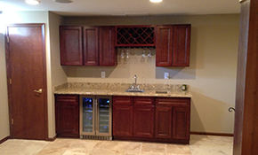 $11,695 Basement Finishing or Remodeling--Includes Wet Bar