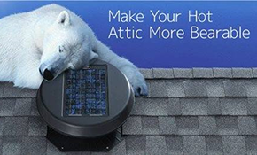 $550 for Solar Powered Rooftop Vent (Installation and Materials Included)