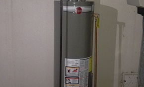 $895 for New 40-Gallon Energy Rated Rheem Water Heater Installation (9-Year Warranty)