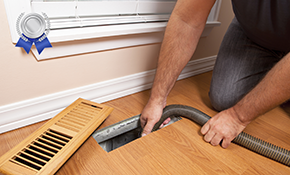 $239 Silver Air Duct Cleaning Package with Unlimited Vents