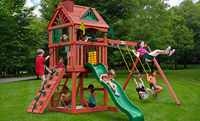 $1,599 for Gorilla Playsets Nantucket Swing Set Supplied and Installed