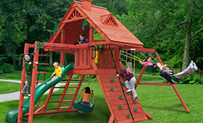 $2,599 for Gorilla Playsets Sun Pallace II  Swing Set Supplied and Installed