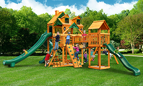 $4,699 for Gorilla Playsets Malibu Treasure Trove II Swing Set Supplied and Installed
