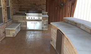 $7,995 for 15' Custom Outdoor Kitchen/Grill Enclosure/Bar