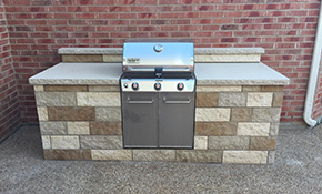 $4,950 for 10' Custom Outdoor Kitchen/Grill Enclosure