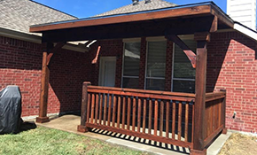 $4,595 for Installation of Flat Cedar Patio Cover