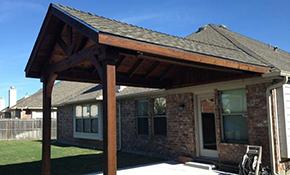 $6,750 for Installation of Gable Cedar Patio Cover