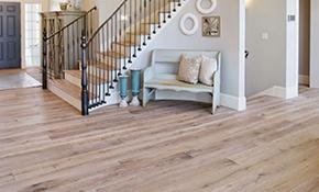 $3,399 for 300 Square Feet of Custom Finished Hardwood Floor Installation
