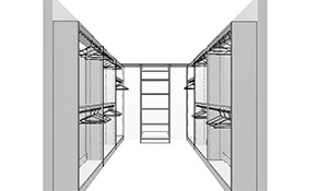 $2,499 for a Professionally Designed, Built, and Installed Closet System for an 8 x 10 Walk-in Closet